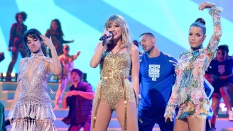Taylor Swift Performed A Medley Of Classic Hits With Camila Cabello And Halsey At The AMAs