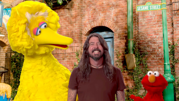 Watch Dave Grohl Elmo And Big Bird Perform On Sesame Street