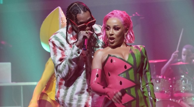 Doja Cat And Tyga Perform 'Juicy' During Her 'Late Night With Seth Meyers' Debut