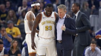 Steve Kerr Said Draymond Green Will Be Out For 'The Next Few Games' With A Ligament Injury