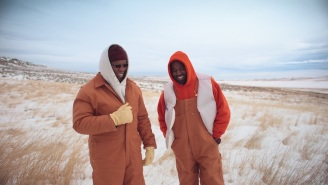 Kanye West And His Dad Enjoy The Snowy Outdoors In The Wyoming-Set 'Follow God' Video