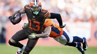 The NFL Made Odell Beckham Jr. Change His 'Joker' Cleats At Halftime
