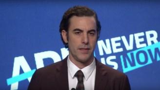 Sacha Baron Cohen Attacked Mark Zuckerberg In His ADL Speech, Calling Facebook A 'Propaganda Machine'