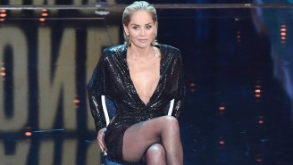 Sharon Stone Channeled Her Famous 'Basic Instinct' Scene To Make An Important Point At The GQ Awards