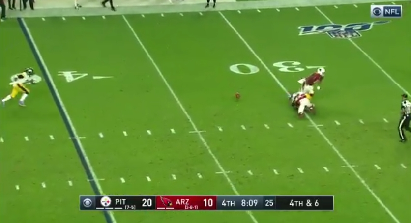 A Steelers Fake Punt Against Arizona Ended In Disaster For The Punter