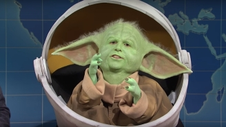 Baby Yoda Made A Disturbing Appearance On 'SNL Weekend Update' To Call Out Baby Groot