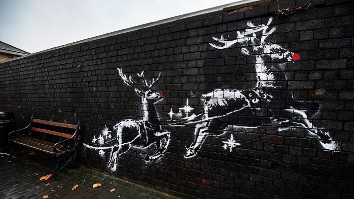 New Banksy Mural Aims To Raise Awareness About Homelessness And Spread Christmas Spirit