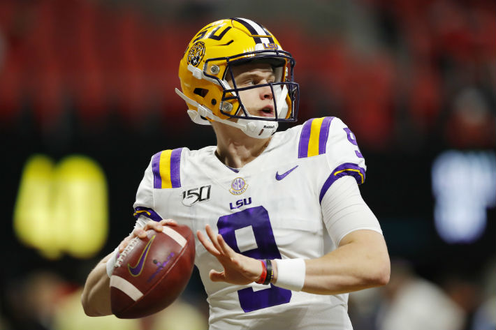 LSU Quarterback Joe Burrow Caught A Pass From Himself For A First Down In The SEC Title Game