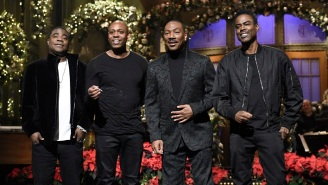 Dave Chappelle, Chris Rock, Tracy Morgan, And Kenan Thompson Joined Eddie Murphy For His 'SNL' Monologue