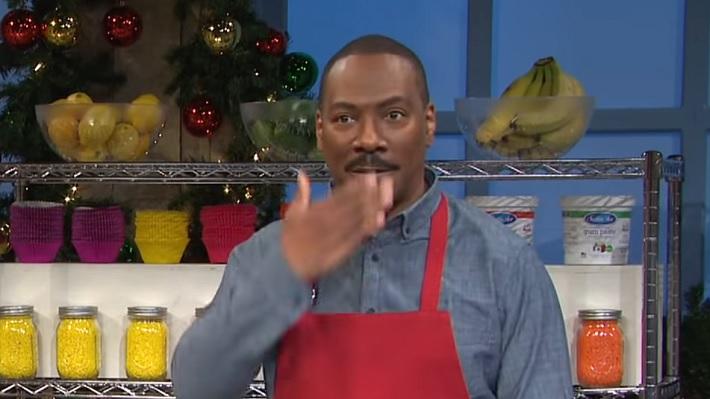 Watch Eddie Murphy Accidentally Swear Slip During Snl Cake Sketch