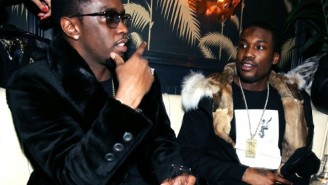 A Drunk Meek Mill Freestyled To A Luther Vandross Hit At Diddy's 50th Birthday Party