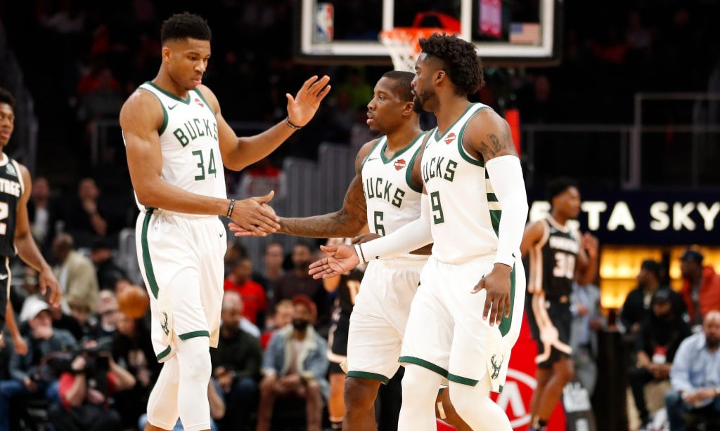 Image result for giannis and the bucks 2019-20