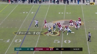 The Eagles Covered On A 50-Yard Fumble Return TD As Time Expired Against Washington