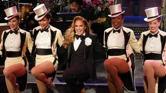 Jennifer Lopez Revived One Of Her Most Classic Looks In The 'SNL' Opening Monologue