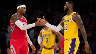 LeBron Is 'F*cking Proud' Of How Carmelo Anthony Has Played In Portland
