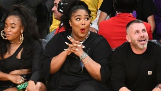 Lizzo Was Infatuated By Karl-Anthony Towns While Sitting Courtside For Lakers-Timberwolves