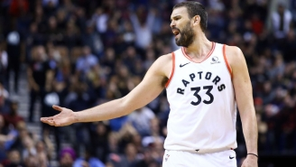Marc Gasol Left The Raptors' Game Against The Pistons With A Strained Hamstring
