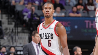 Rodney Hood Reportedly Suffered A Torn Achilles Against The Lakers