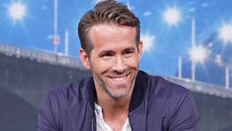 Ryan Reynolds Posted A 'Heavy Eye Contact' Photo To Prove That 'Red Notice' Is Fully Back In Action