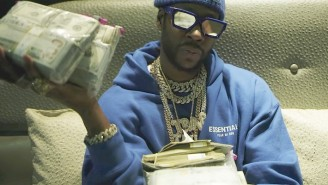 2 Chainz Sorts Through Bags Of Money In His 'Somebody Need To Hear This' Freestyle Video