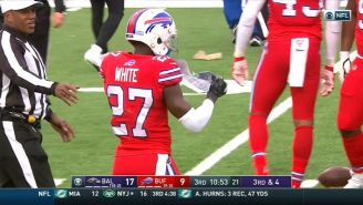 Refs Got Mad At Tre White For Swiping A Look At Ravens Plays When They Blew Onto The Field