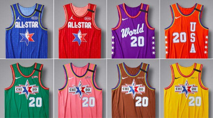 Jordan Brand And Nike Unveiled Eight Uniforms For The 2020 NBA All-Star Weekend