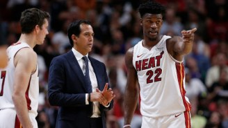 Erik Spoelstra Praised Jimmy Butler For Being A Max Player Even When His Shot Isn't Falling