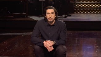Adam Driver Tried To Keep His Cool During A 'Chill' 'SNL' Monologue