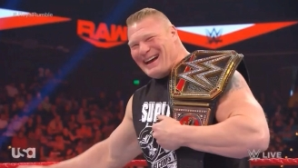 Watch R-Truth Make Brock Lesnar Crack Up On Monday Night Raw