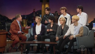 BTS Talk About The Grammys And Perform 'Black Swan' Barefoot On 'The Late Late Show'