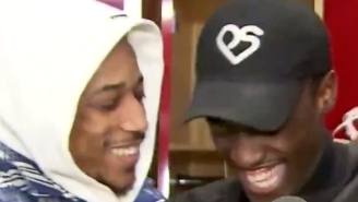 DeMar DeRozan Crashed Pascal Siakam's Postgame Interview In The Raptors Locker Room After A Spurs Win