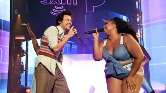 Lizzo And Harry Styles Linked Up To Perform 'Juice' Ahead Of Their Super Bowl Concert