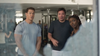 John Cena Puts Jimmy Fallon Through The Paces In A New Super Bowl Commercial