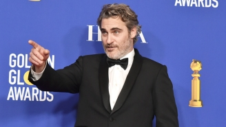 Joaquin Phoenix Was Delightfully Shambolic After Being 'Tricked' Into Answering Questions At The Globes