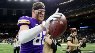 Kyle Rudolph Called It 'Disappointing' To See Gloves He Gave To A Media Member For Charity On eBay