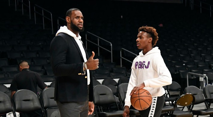 LeBron On If He'd Come To New York If Bronny's Drafted By The Knicks: 'He's In 9th Grade, Man'
