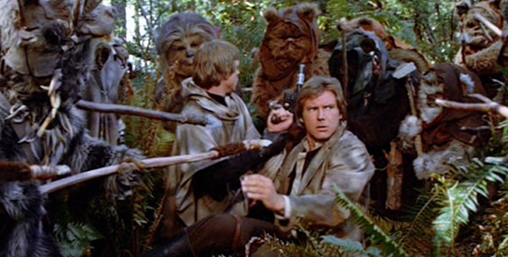 Trump's Camouflage Space Force Suits Have Twitter Making The Same Jokes About Endor