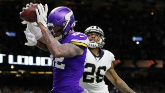 The Vikings Beat The Saints In Overtime On A Potential Offensive Pass Interference Call That Wasn't