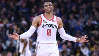 Russell Westbrook Missed A Pair Of Easy Dunks In The Rockets' Win Over The Sixers