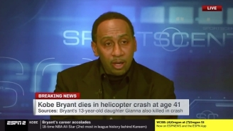 Stephen A. Smith Shared An Emotional Kobe Bryant Tribute On ESPN
