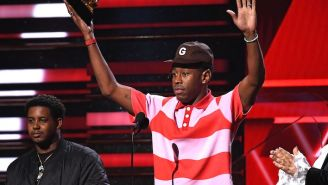 Tyler The Creator Had An Adorable Moment With His Mom While Winning The Best Rap Album Grammy For 'Igor'