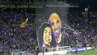 LAFC Supporters Unveiled A Kobe And Gianna Bryant Tifo Before A CONCACAF Champions League Match