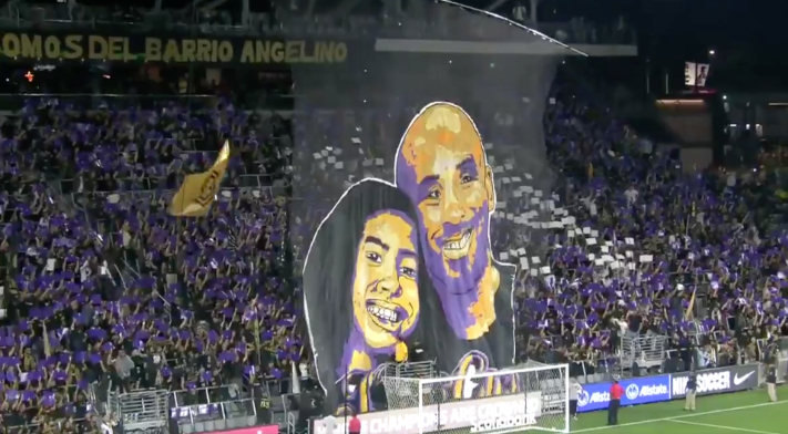 LAFC Supporters Unveiled A Gigantic Kobe And Gianna Bryant Tifo