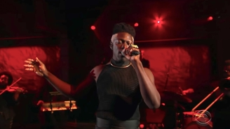 Moses Sumney Showcases His Incredibly Dynamic Vocal Range With A Performance Of 'Cut Me' On 'Colbert'