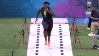 Watch 364-Pound OL Mekhi Becton Run A Ridiculous 5.10 Second 40 Yard Dash