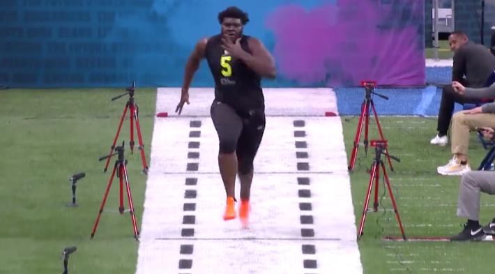 Watch 364-Pound OL Mekhi Becton Run A Ridiculous 5.11 Second 40 Yard Dash