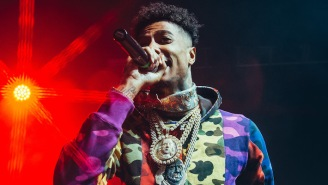 Blueface Warns Rappers About Moving To LA While Paying Tribute To Pop Smoke
