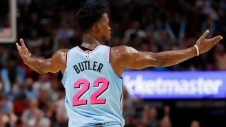 Jimmy Butler On Chris Paul Throwing The Ball Off Duncan Robinson: 'You Gotta Deal With Me'