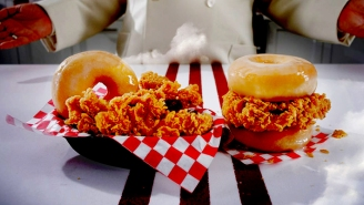 We Tried KFC's Chicken & Donut Sandwich And It Was A Brutal Fast Food Experience