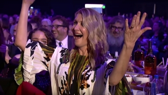 Laura Dern Loved The Spirit Awards Paying Musical Tribute To Her Queerest Moments In Film